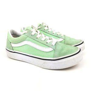 Vans Old Skool Kids Low Green Classic Sneaker Lime